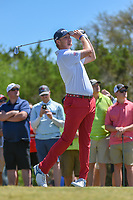Trey Mullinax (USA) watches his tee shot on 3 during Round 4 of the Valero Texas Open, AT&amp;T Oaks Course, TPC San Antonio, San Antonio, Texas, USA. 4/22/2018.<br /> Picture: Golffile | Ken Murray<br /> <br /> <br /> All photo usage must carry mandatory copyright credit (&copy; Golffile | Ken Murray)