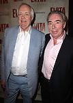 Tim Rice & Andrew Lloyd Webber.attending the Broadway Opening Night Performance of 'EVITA' at the Marquis Theatre in New York City on 4/5/2012 © Walter McBride / WM Photography