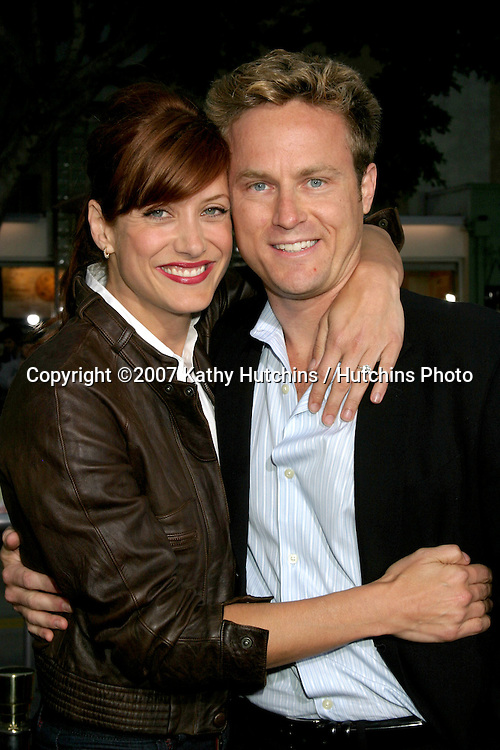 """Kate Walsh & her fiance Alex Young.""""Knocked Up"""" Premiere.Mann's Village Theater .Westwood, CA.May 21, 2007.©2007 Kathy Hutchins / Hutchins Photo...."""