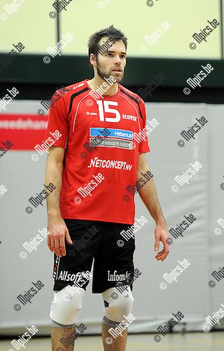2012-10-07 / Volleybal / seizoen 2012-2013 / VC Zoersel / Claerman Yanninck..Foto: Mpics.be