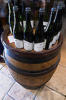 bottles in the tasting room dom h & g buisson st romain cote de beaune burgundy france