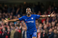 Charly Musonda of Chelsea celebrates after scoring his goal during the Carabao Cup (Football League cup) 23rd round match between Chelsea and Nottingham Forest at Stamford Bridge, London, England on 20 September 2017. Photo by Andy Rowland.