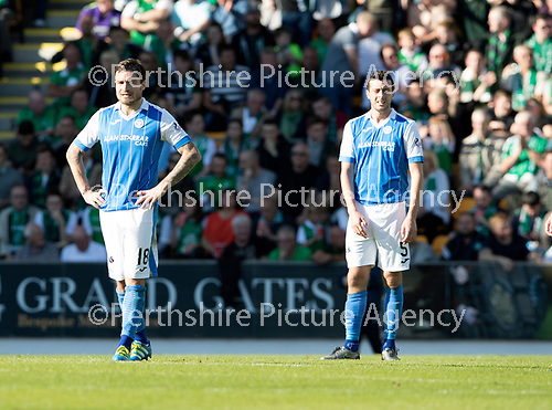 St Johnstone v Hibs &hellip;09.09.17&hellip; McDiarmid Park&hellip; SPFL<br />A gutted Paul Paton after sacoring his own goal<br />Picture by Graeme Hart.<br />Copyright Perthshire Picture Agency<br />Tel: 01738 623350  Mobile: 07990 594431