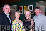 Fairway<br /> ----------<br /> Enjoying the Kilmoyley golf society annual social held at Ballyheigue golf clubhouse last Saturday night L-R Jim&amp;Liz O'Sullivan with Monica&amp;JB Griffin.