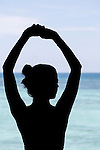 Allison's silhouette in front of the Sulu sea on Friday May 3rd 2013 in Sandakan, Malaysia. (Photo by Brian Garfinkel)