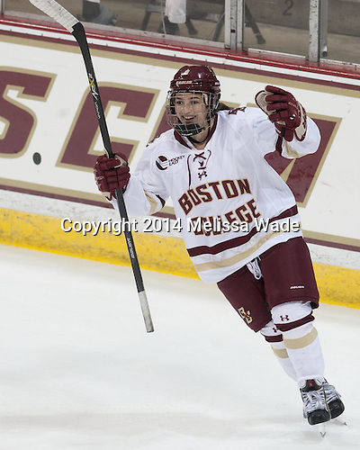 Dana Trivigno (BC - 8) - The Boston College Eagles defeated the visiting Syracuse University Orange 10-2 on Saturday, October 4, 2014, at Kelley Rink in Conte Forum in Chestnut Hill, Massachusetts.