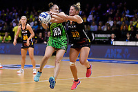 Pulse&rsquo; Whitney Souness and Magic&rsquo;s Lisa Mather in action during the ANZ Premiership - Pulse v Magic at TSB Bank Arena, Wellington, New Zealand on Sunday 21 April 2019. <br /> Photo by Masanori Udagawa. <br /> www.photowellington.photoshelter.com