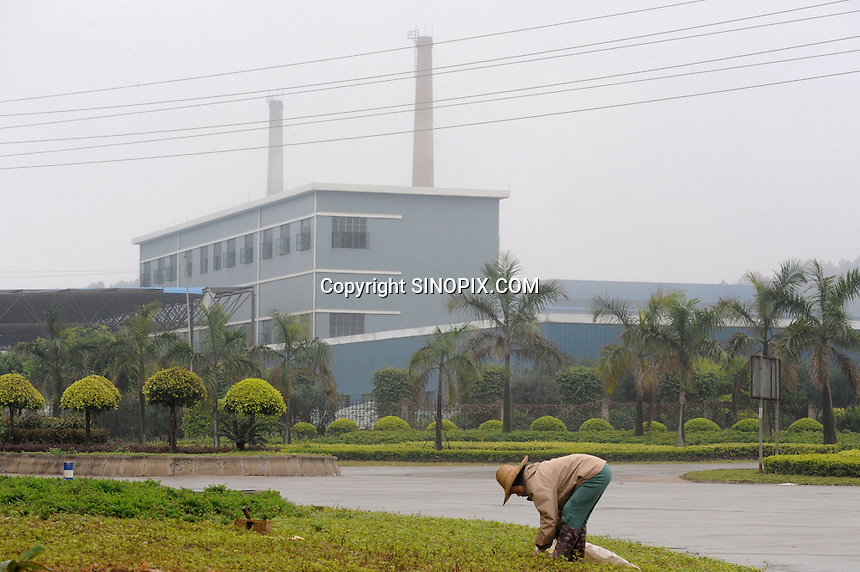 Foshan Electrical and Lighting Co., Ltd, Guangdong, Gaoming District, Foshan China. The factory, in which German company Osram has invested, has over 100 workers poisoned with mercury vapor while making low energy lightbulbs.<br /><br />PHOTO BY RICHARD JONES/SINOPIX