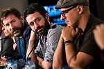 """Antonio de la Torre, the director of the film Rodrigo Sorogoyen and Roberto Alamo during press conference of the presentation of the film """"Que Dios Nos Perdone"""" at Festival de Cine Fantastico de Sitges in Barcelona. October 14, Spain. 2016. (ALTERPHOTOS/BorjaB.Hojas)"""