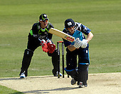 Cricket - CB40 Surrey Lions V Scottish Saltires at the Kia Oval - London - a Saltires best for Middlesex Scot Josh Davey here on his way to 50 - the Surrey keeper is Steve Davis - Picture by Donald MacLeod - 01.05.11 - 07702 319 738 - www.donald-macleod.com - clanmacleod@btinternet.com