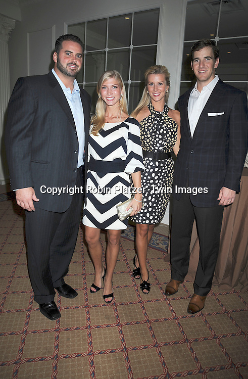 Shaun O'Hara, Eli Manning & wives Amy and Abby