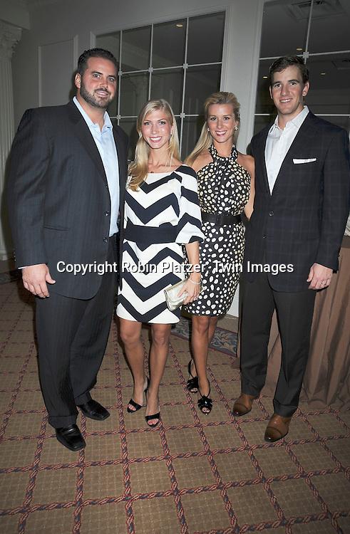 Shaun O'Hara, Eli Manning & wives Amy and Abby