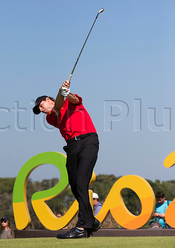 14.08.2016. Rio de Janeiro, Brazil.  Thomas Pieters in action, final round, Men's Individual Stroke Play Round 4 of the Golf events during the Rio 2016 Olympic Games at the Olympic Golf Course in Rio de Janeiro, Brazil, 14 August 2016..