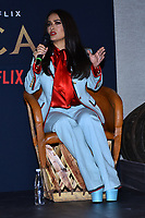 MEXICO CITY, MEXICO - SEPTEMBER 9: Salma Hayek talks during a press conference to promote 'Monarca' Netflix originals Tv Series at Mexico City Four Season Hotel on September 9, 2019 in Mexico City, Mexico Credit: Action Press/MediaPunch ***FOR USA ONLY***