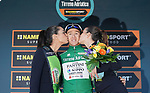 Nicola Bagioli (ITA) Nippo-Vini Fantini-Europa Ovini retains the Maglia Verde at the end of Stage 6 of the 53rd edition of the Tirreno-Adriatico 2018 running 153km from Numana to Fano, Italy. 12th March 2018.<br /> Picture: LaPresse/Spada | Cyclefile<br /> <br /> <br /> All photos usage must carry mandatory copyright credit (&copy; Cyclefile | LaPresse/Spada)