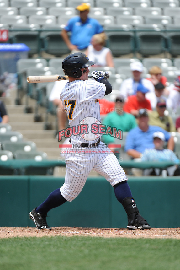 Trenton Thunder outfielder Tyler Austin (17) during game against the New Hampshire Fisher Cats at ARM & HAMMER Park on June 22, 2014 in Trenton, NJ.  New Hampshire defeated Trenton 7-2.  (Tomasso DeRosa/Four Seam Images)