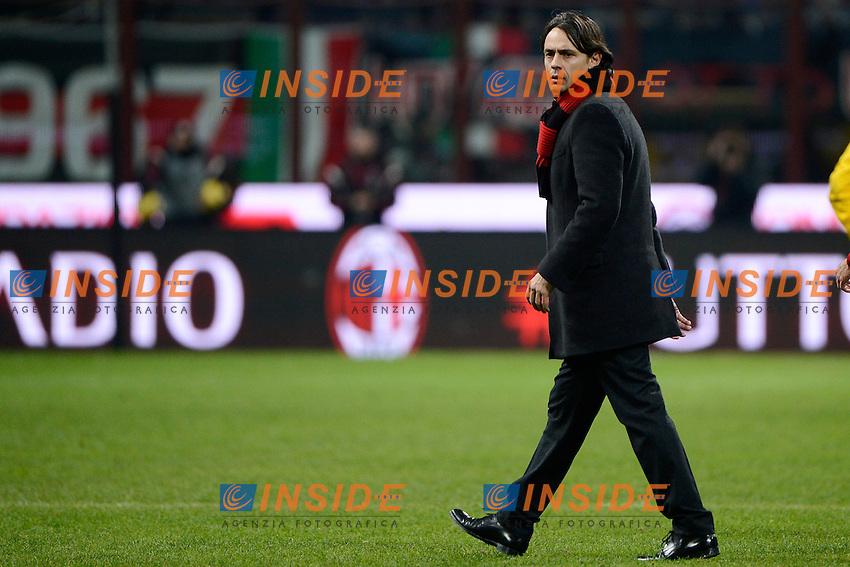 Filippo Inzaghi Milan<br /> Milano 01-02-2015 Stadio Giuseppe Meazza - Football Calcio Serie A Milan - Parma. Foto Giuseppe Celeste / Insidefoto