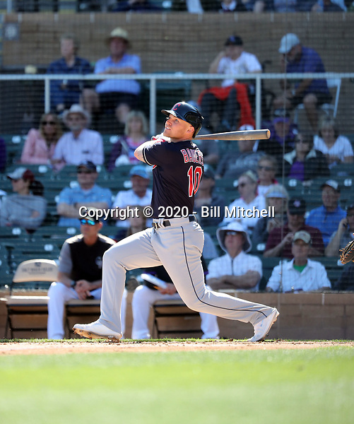 Jake Bauers - Cleveland Indians 2020 spring training (Bill Mitchell)