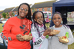 Amber Golodo, Thandie Kalumbi, and Hannah Duma at the 10th anniversary celebrations of McArdle Green estate in Moneymore. Photo:Colin Bell/pressphotos.ie