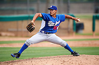 Los Angeles Dodgers minor league pitcher Jhosue Bermudez #82 during an instructional league game against the Chicago White Sox at the Camelback Ranch Training Complex on October 6, 2012 in Glendale, Arizona.  (Mike Janes/Four Seam Images)