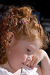 Red-headed girl child