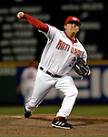 19 May 2007: Washington Nationals pitcher Chad Cordero in action against the Baltimore Orioles at RFK Stadium in Washington, DC. The Orioles defeated the Nationals 3-2 in the second game of the 3-game interleague series...Mandatory Photo Credit: Ed Wolfstein Photo