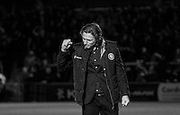 Wycombe Wanderers Manager Gareth Ainsworth punches the air following victory during the Sky Bet League 2 match between Wycombe Wanderers and Crawley Town at Adams Park, High Wycombe, England on 28 December 2015. Photo by Kevin Prescod / PRiME Media Images