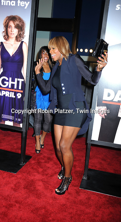 "Tennis Player Serena Williams arriving at The Premiere of ""Date Night on April 6, 2010 at the Ziegfeld Theatre in New York City. The movie stars Tina Fey, Steve Carell, Taraji P Henson, Common, and Leighton Meester."