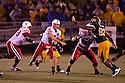 08 October 2009: Nebraska quarterback Zac Lee making a pass to wide receiver Niles Paul in the second quarter against Missouri at at Memorial Stadium, Columbia, Missouri. Nebraska defeated Missouri 27 to 12.