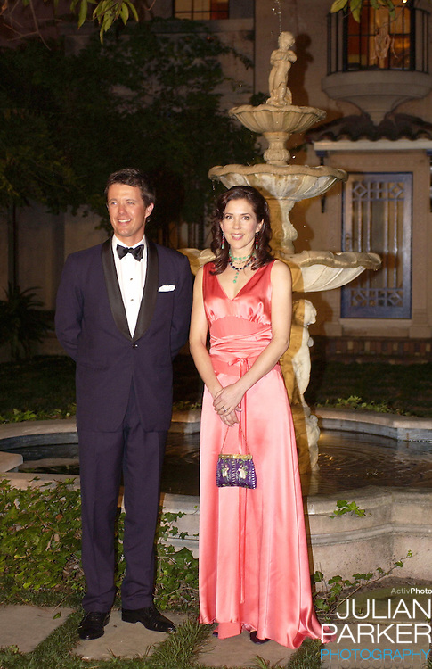 Crown Prince Frederik & Crown Princess Mary of Denmark attend an Australian Cancer Council Dinner at the Boomerang, during their 2-week visit to Australia..