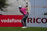 Maximilian Kieffer (GER) on the 11th during Round 1 of the Commercial Bank Qatar Masters 2020 at the Education City Golf Club, Doha, Qatar . 05/03/2020<br /> Picture: Golffile | Thos Caffrey<br /> <br /> <br /> All photo usage must carry mandatory copyright credit (© Golffile | Thos Caffrey)