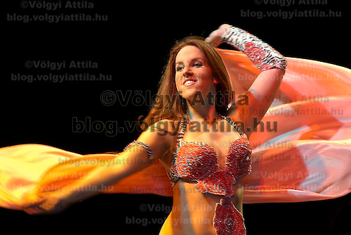 Belly dancer Aniko Ancsan performs during a dance festival.
