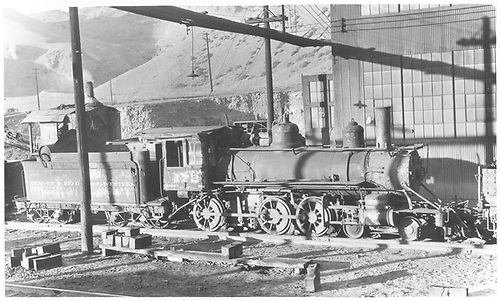 Engine #172 at Salida stored dea.<br /> D&amp;RGW  Salida, CO  Taken by Perry, Otto C. - 9/20/1936