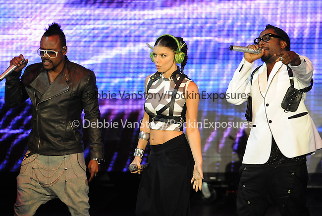 Apl.de.ap,Fergie,Will.i.am of The Black Eyed Peas live at The 102.7's KIIS-FM's Wango Tango 2009 held at The Verizon Wireless Ampitheatre in Irvine, California on May 09,2009                                                                     Copyright 2009 DVS/ RockinExposures