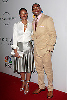 US actor Arlen Escarpeta arrives with his girlfriend at the NBC/Universal Pictures/Focus Features Golden Globes after party at the Beverly Hilton Hotel, Beverly Hills, California, USA, on January 11, 2009.  The Golden Globes honour excellence in film and television.