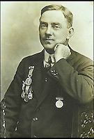 BNPS.co.uk (01202 558833)<br /> Pic: DixNoonanWebb/BNPS<br /> <br /> John Henry Collin.<br /> <br /> The medals of a hero captain who dived into shark infested waters during a monsoon to rescue a seaman who had been swept overboard have emerged for auction.<br /> <br /> Captain John Henry Collin of the Merchant Navy was fully aware there were several sharks circling the vessel when, without hesitating, he jumped into the Red Sea.<br /> <br /> Showing a complete disregard for his own well-being, he swam after a distressed seaman who was stranded in the sea and hauled him back on to the boat. <br /> <br /> The seaman survived and Capt Collin, in recognition of his bravery, was awarded the Stanhope Gold Medal for 1896 which was given for the most heroic rescue.