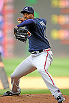 12 April 2008: Atlanta Braves' pitcher Manny Acosta in action against the Washington Nationals at Nationals Park, in Washington, DC. The Braves defeated the Nationals 10-2...Mandatory Photo Credit: Ed Wolfstein Photo