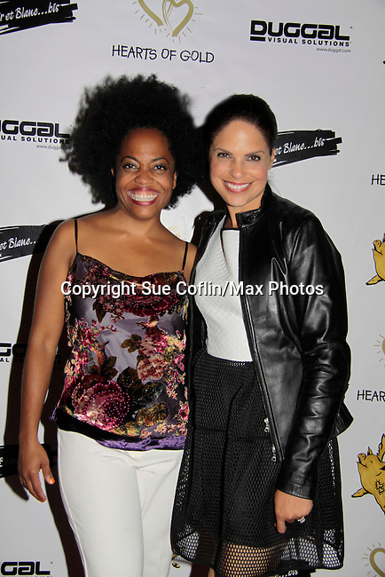 Another World's Rhonda Ross and Soledad O'Brien support Hearts of Gold - 45 A Different Kind of Fund Raiser on July 10, 2014 at Manhattan Penthouse, New York City, New Yor (Photo by Sue Coflin/Max Photos)