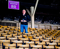 BALTIMORE, MD - MAY 12: Trainer Todd Pletcher watches as Kentucky Derby winner Always Dreaming exercises in preparation for the Preakness Stakes next week at Pimlico Race Course on May 12, 2017 in Baltimore, Maryland.(Photo by Scott Serio/Eclipse Sportswire/Getty Images)