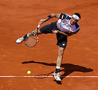 Potito Starace..Tennis - Grand Slam - French Open- Roland Garros - Paris - Mon May 28th 2012...© AMN Images, 30, Cleveland Street, London, W1T 4JD.Tel - +44 20 7907 6387.mfrey@advantagemedianet.com.www.amnimages.photoshelter.com.www.advantagemedianet.com.www.tennishead.net