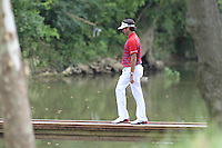 Bubba Watson (USA) crosses the footbridge to the 9th tee during Thursday's Round 1 of the 2014 PGA Championship held at the Valhalla Club, Louisville, Kentucky.: Picture Eoin Clarke, www.golffile.ie: 7th August 2014