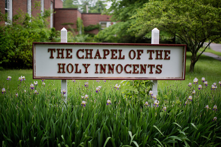 The Chapel of the Holy Innocents stands on the campus at the Fernald Developmental Center in Waltham, Massachusetts, USA.