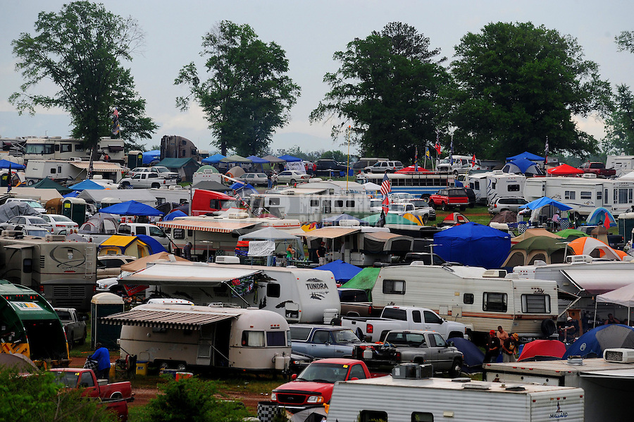 Apr 27, 2008; Talladega, AL, USA; NASCAR Sprint Cup Series fans camp out prior to the Aarons 499 at Talladega Superspeedway. Mandatory Credit: Mark J. Rebilas-
