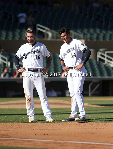 Lucas Erceg (left), Jake Gatewood (right) - Salt River Rafters - 2017 Arizona Fall League (Bill Mitchell)