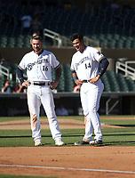 Lucas Erceg (left), Jake Gatewood (right) - Salt River Rafters - 2017 Arizona Fall League (Bill Mitchell)