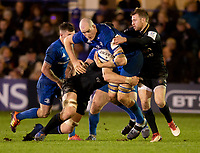 Leinster's Devin Toner in action during todays match<br /> <br /> Photographer Bob Bradford/CameraSport<br /> <br /> Heineken Champions Cup Pool 1 - Bath v Leinster - Saturday 8th December 2018 - The Recreation Ground - Bath<br /> <br /> World Copyright © 2018 CameraSport. All rights reserved. 43 Linden Ave. Countesthorpe. Leicester. England. LE8 5PG - Tel: +44 (0) 116 277 4147 - admin@camerasport.com - www.camerasport.com
