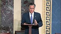 Mitt Romney - US Senate Floor Proceedings during the Impeachment Trial of US President Trump