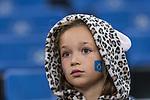 08.09.2017, Volksparkstadion, Hamburg, GER, 1.FBL, Hamburger SV vs RB Leipzig<br /> <br /> im Bild<br /> junger weiblicher HSV Fan mit Fanschminke auf Trib&uuml;ne, <br /> <br /> Foto &copy; nordphoto / Ewert