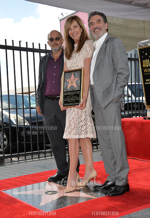 LOS ANGELES, CA. October 17, 2016: Allison Janney &amp; Chuck Lorre &amp; Richard Schiff at the Hollywood Walk of Fame Star ceremony honoring actress Allison Janney.<br /> Picture: Paul Smith/Featureflash/SilverHub 0208 004 5359/ 07711 972644 Editors@silverhubmedia.com