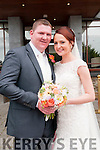 Sharon Keane, daughter of Gerard & Maura Keane, Cratloe, Abbeyfeale & Padraig Cahill, son of Tom & Ann Cahill, Knocknasna, Abeyfeale who were married in Athea church by Fr. O'Shea on Friday last. Best man was Eamon Cahill and the grooms men were Sonny, Thomas & Liam Cahill. The bridesmaids were Lisa Keane, Rachel Cahill, Ciara Gleeson & Angie Keane. Flowergirls were Ria Cahill & Kyla Labaside. Pageboys were Matthew & Darragh Cahill. The reception was held in the Listowel Arms Hotel & the couple will live inAbbeyfeale.